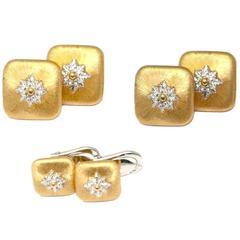 Buccellati Macri diamond gold Tuxedo set