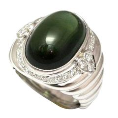Repossi green tourmaline gold dome ring