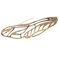Tiffany & Co. Angela Cummings Diamond Gold Pin Brooch