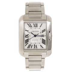 Cartier stainless steel Tank Anglaise Automatic Wristwatch