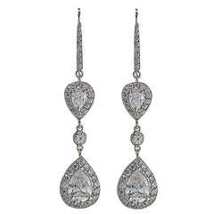 5.05 Carat Pear Shape Diamond Dangle Earrings