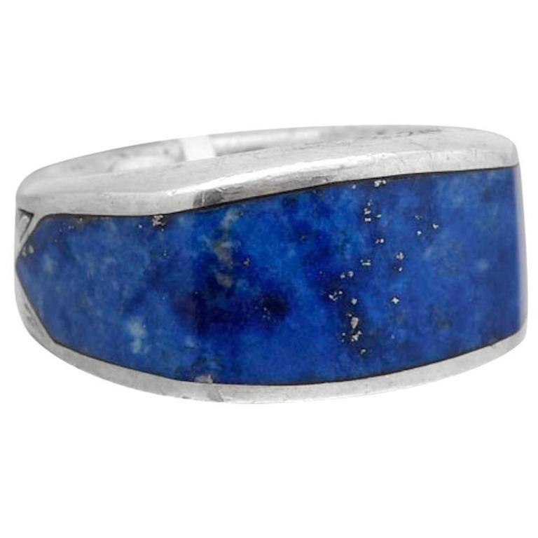 David Yurman Men S Lapis Lazuli 3 Sided Ring At 1stdibs