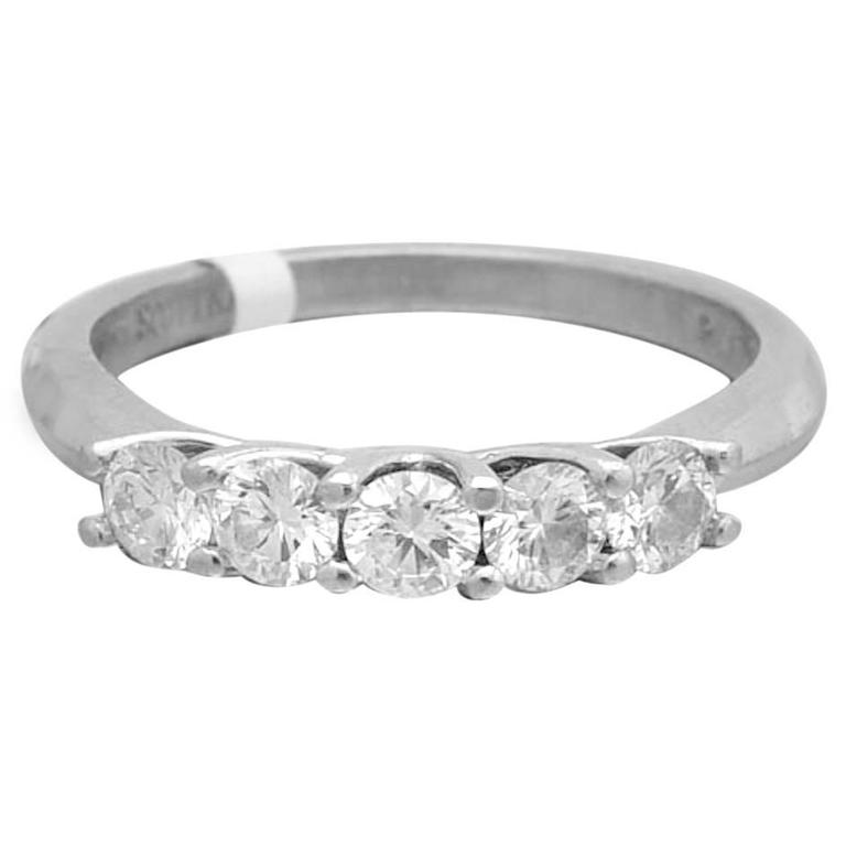 Scott Kay Platinum Diamond Wedding Band Ring: Scott Kay Platinum And Diamond Eternity Band Ring At 1stdibs