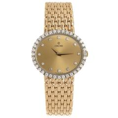 Concord Ladies Yellow Gold Diamond Quartz Wristwatch