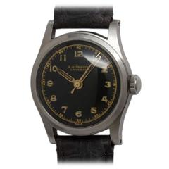 Gubelin Stainless Steel Military Style Wristwatch circa 1940s