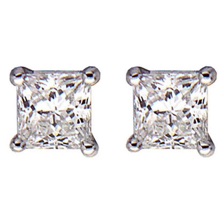 Princess Cut Diamond Stud Earrings (0.34ctw) 1