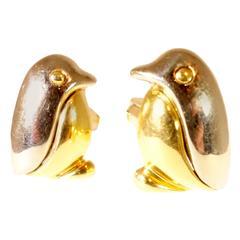 Bulgari Gold Penguin Cufflinks
