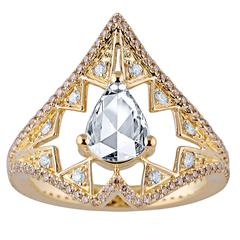 Jade Jagger Precious Pear Diamond Ring