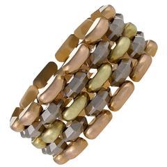 Retro Tri-Color Gold Bracelet