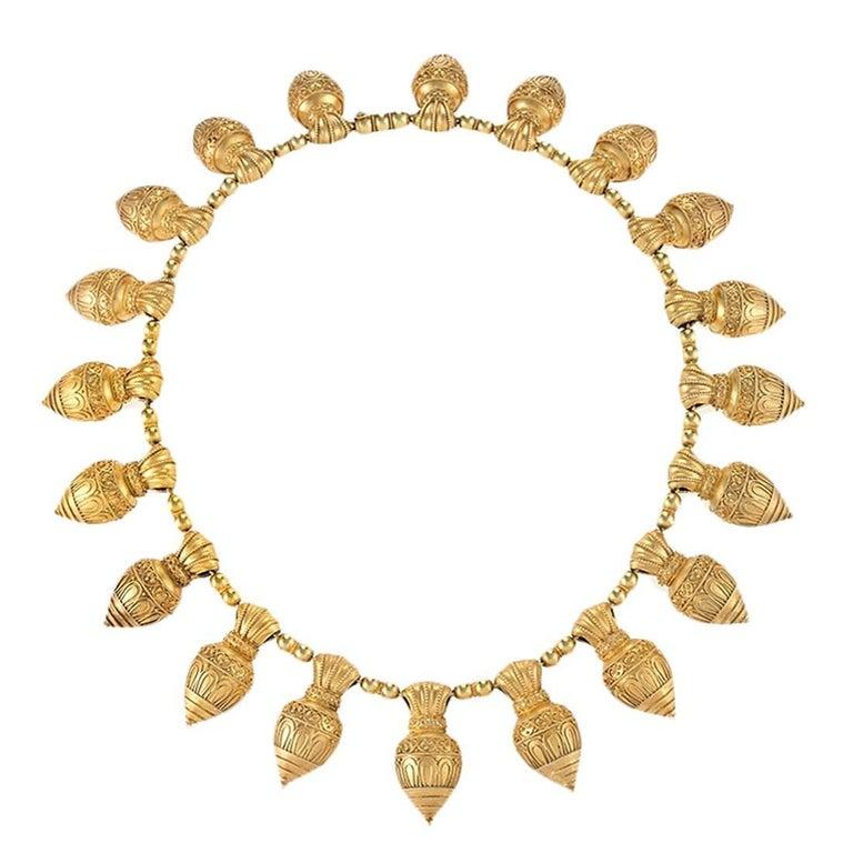 Antique Austro-Hungarian Etruscan Revival Necklace For Sale