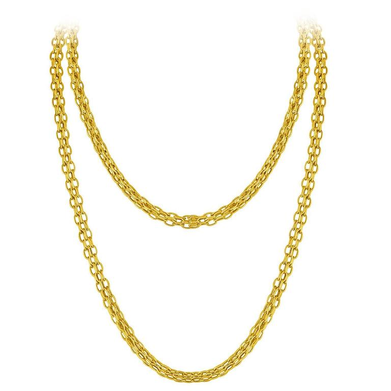 Tiffany & Co. Estate Gold Chain Necklace C.1960's