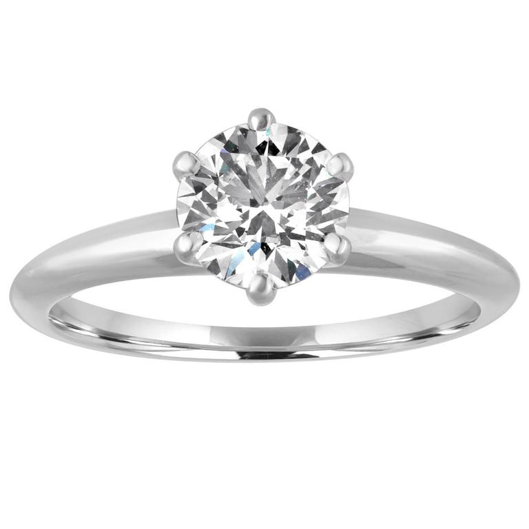 Tiffany & Co. 1.19 Carat F VS1 GIA Diamond Engagement Ring 1