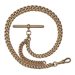 9k Yellow Gold Albert Watch Chain - Antique 1907