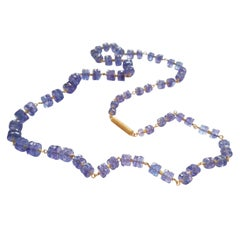 Dalben Tanzanite Gold Necklace