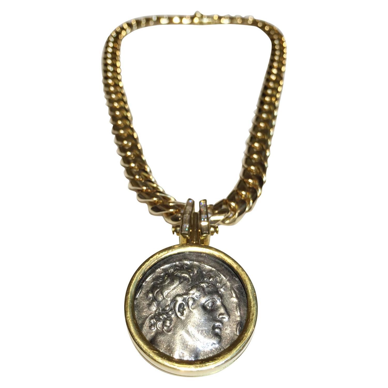bulgari gold coin necklace at 1stdibs