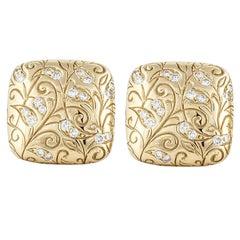 SeidenGang Diamond Gold Laurel Earrings
