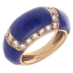 Boucheron Lapis Diamond Gold Ring