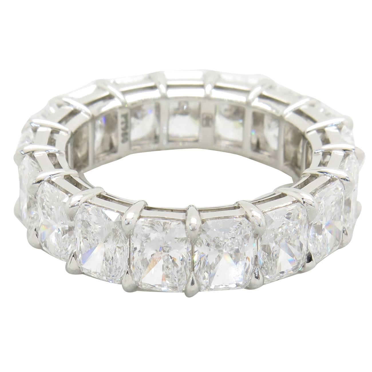 Harry Winston Radiant Diamond Platinum Eternity Band For Sale At 1stdibs
