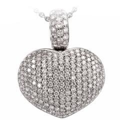 Pasquale Bruni Large Diamond Gold Encrusted Heart Pendant