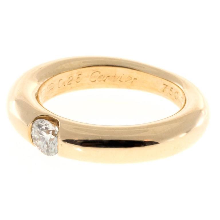 Cartier Ellipse Diamond Gold Ring