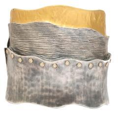 Kurtlan diamond Silver Gold Cuff Bracelet