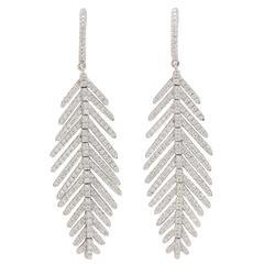 Flexible Diamond Gold Earrings