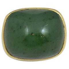 Classic Jade gold Ring
