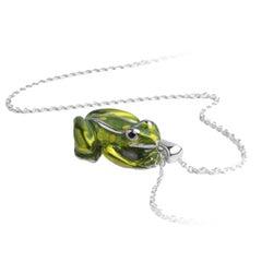 Deakin & Francis Enamel Silver Frog Pendant