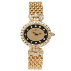 Baume Mercier Lady's yellow gold diamond Quartz Wristwatch