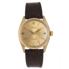 Rolex yellow Gold Shell stainless steel Self Winding Wristwatch Ref 6567