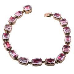 Georgian Era Pink Topaz Bracelet