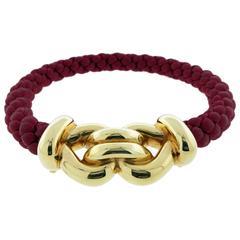Festive Gubelin Braided Silk Gold Choker Necklace