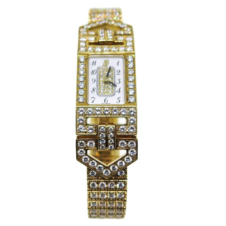 Audemars Piguet Charleston Diamond Yellow Gold Watch