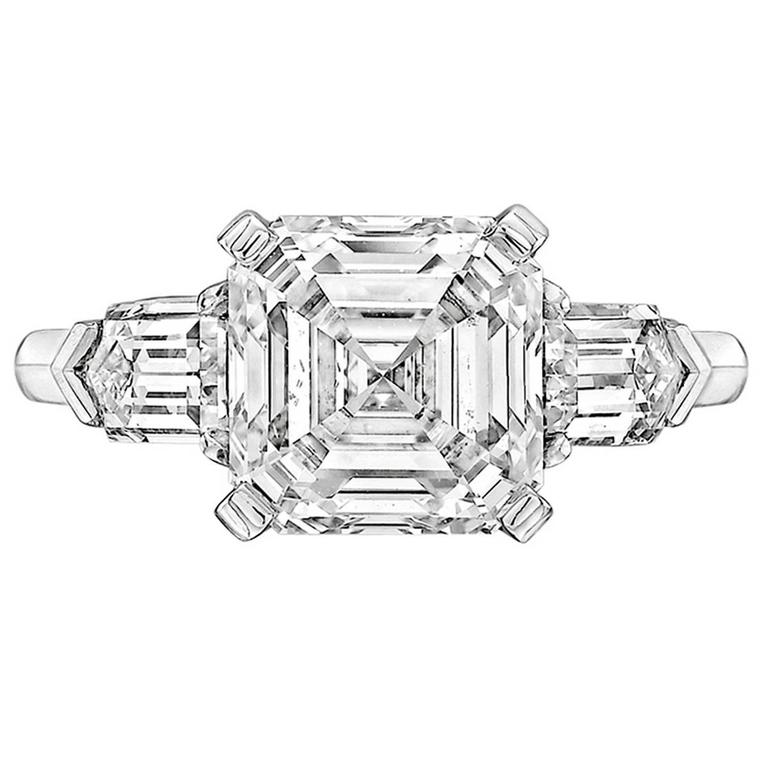 Betteridge 3.51 Carat Asscher-Cut Diamond Engagement Ring 1
