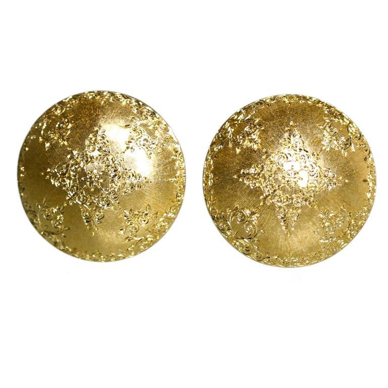 1960s Mario Buccellati Gold Earclips