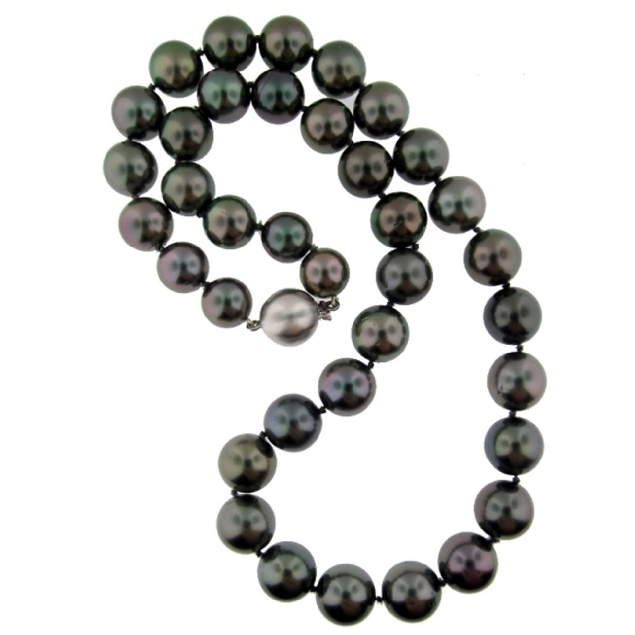 spectacular tahitian pearl necklace at 1stdibs