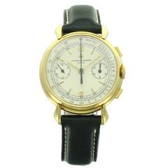 Vacheron yellow gold Constantin Chronograph Wristwatch ref 4178