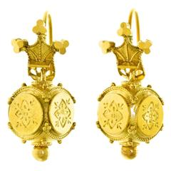 Antique Gold Drop Earrings