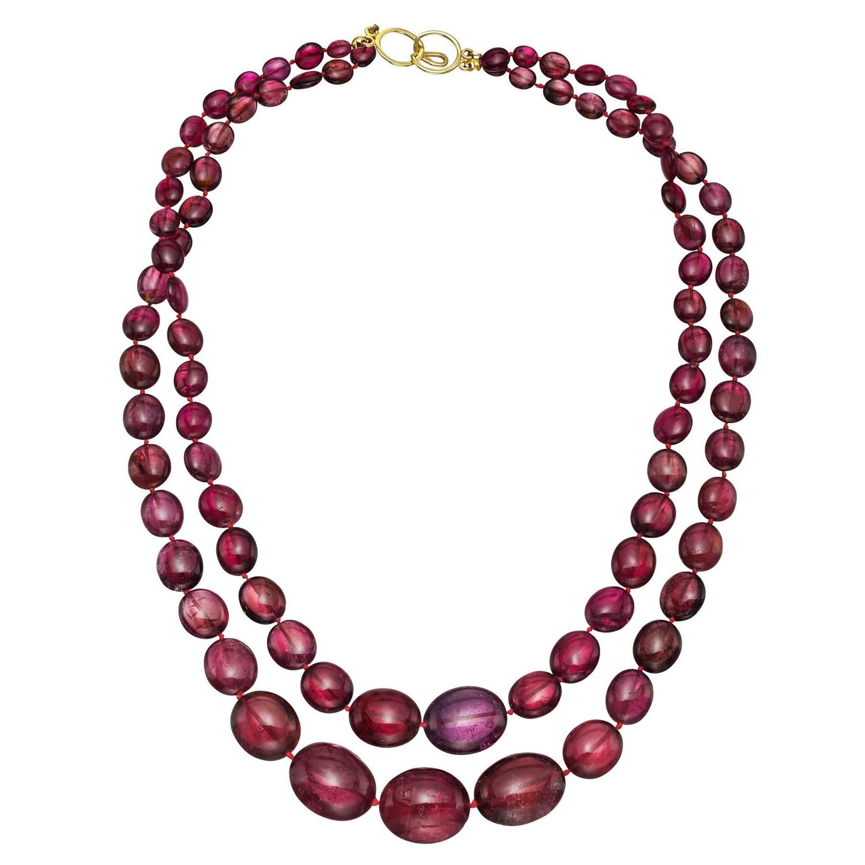 2 strand pink tourmaline bead necklace at 1stdibs. Black Bedroom Furniture Sets. Home Design Ideas