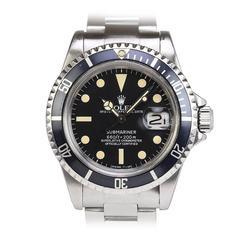 Rolex Stainless Steel Submariner Wristwatch Ref 1680
