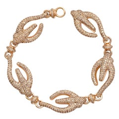 Colleen B. Rosenblat brilliant cut diamond gold bracelet