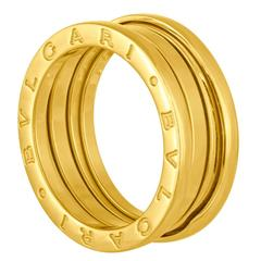 bulgari bzero1 3band yellow gold band ring size 58