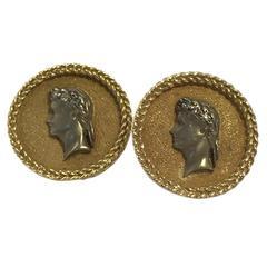 Roman Imperial Design silver gold Cufflinks