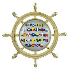 Nautical Reverse Crystal Gold Pin