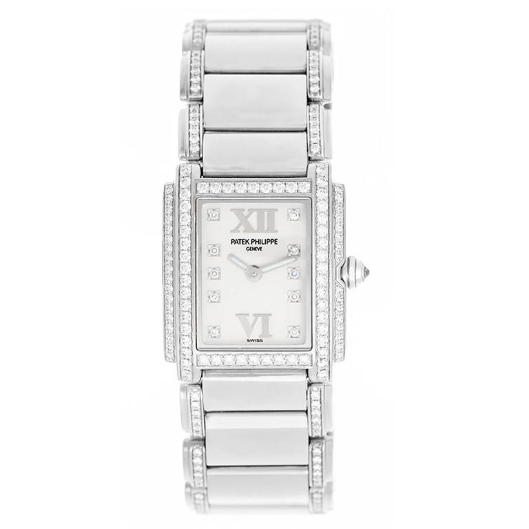 Patek Philippe Ladies 24 White Gold Diamond Wristwatch Reference 4908/310G 1