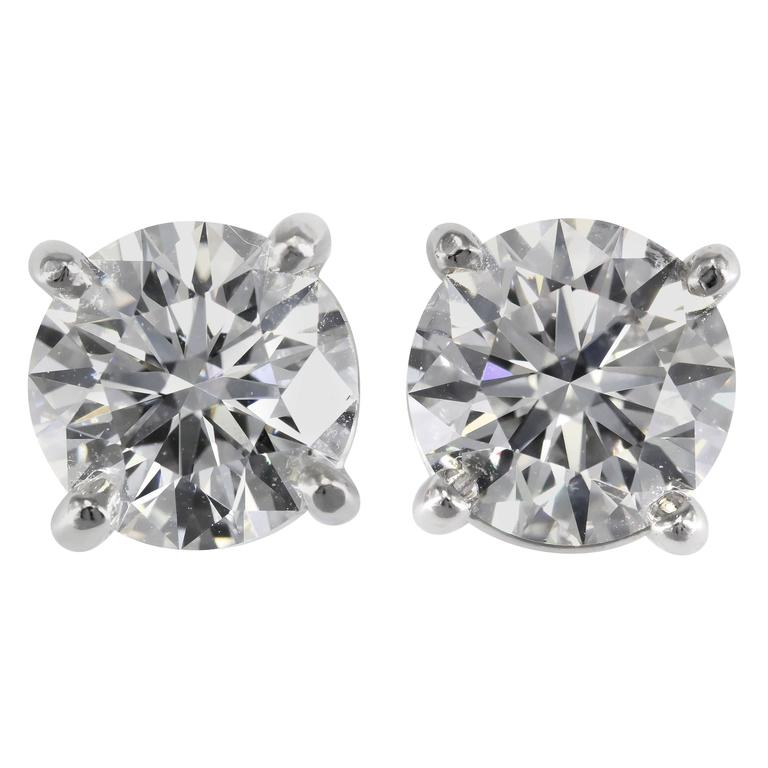 Tiffany & Co. E-VS1-VVS2 3xEX 4.63 carats Diamond Studs  1