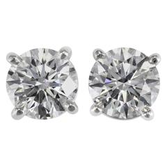 Tiffany & Co. E-VS1-VVS2 3xEX 4.63 carats Diamond Studs