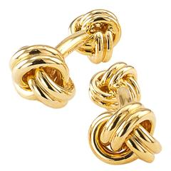 Tiffany & Co. Gold Knot Cuff Links