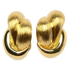 Henry Dunay Large Gold Earrings