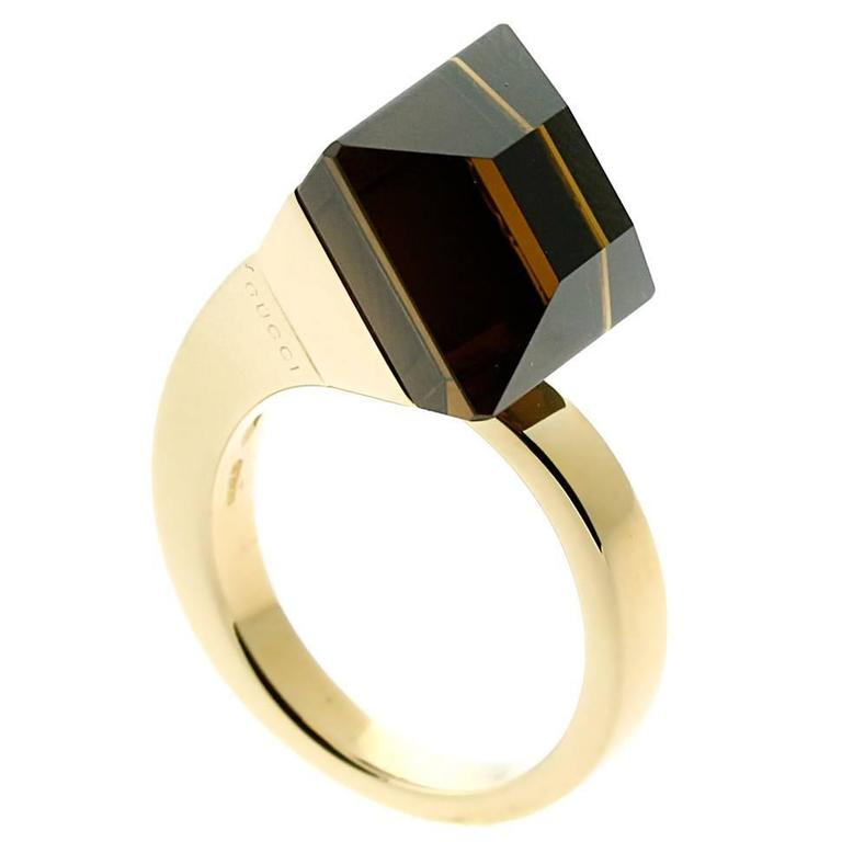 Gucci Chiodo Golden Quartz Gold Ring